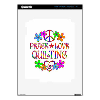 Peace Love Quilting Skins For iPad 3