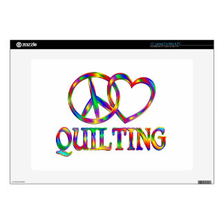 Peace Love Quilting Laptop Skins