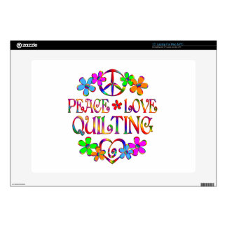 """Peace Love Quilting Skins For 15"""" Laptops"""