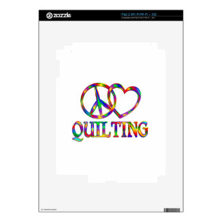 Peace Love Quilting Decals For The iPad 2
