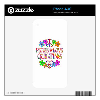 Peace Love Quilting Skin For The iPhone 4S