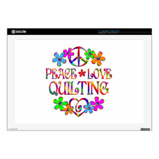 """Peace Love Quilting 17"""" Laptop Skins"""
