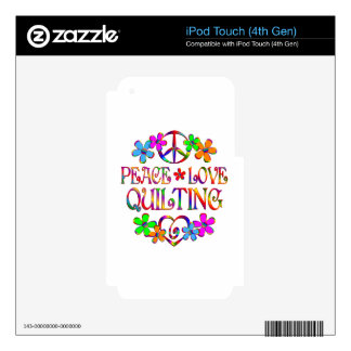 Peace Love Quilting iPod Touch 4G Skin