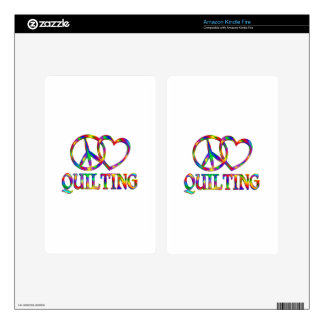 Peace Love Quilting Kindle Fire Decals