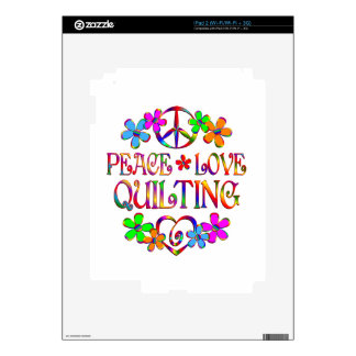 Peace Love Quilting iPad 2 Decal