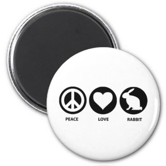Peace Love Rabbit Magnets