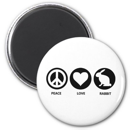 Peace Love Rabbit Magnet