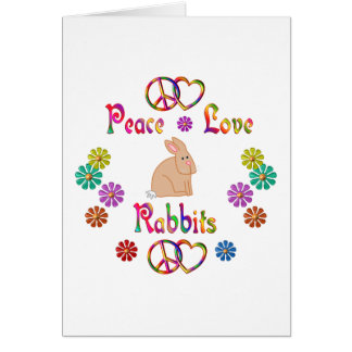 PEACE LOVE RABBITS CARD