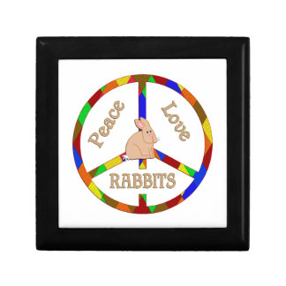 Peace Love Rabbits Keepsake Box