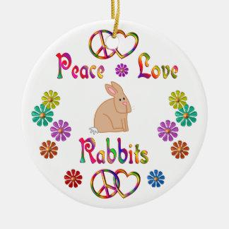 PEACE LOVE RABBITS ORNAMENTS