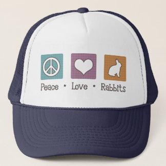 Peace Love Rabbits Trucker Hat