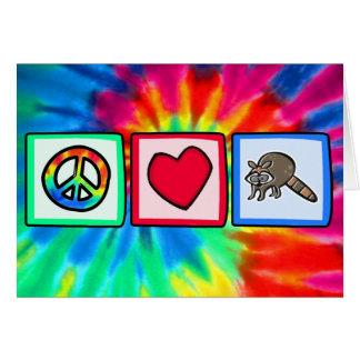 Peace, Love, Raccoons Card