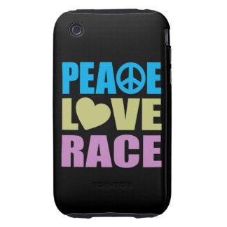 Peace Love Race iPhone 3 Tough Covers