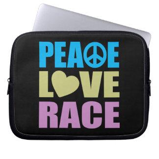 Peace Love Race Laptop Sleeves