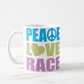 Peace Love Race Coffee Mugs