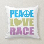 Peace Love Race Pillows