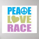 Peace Love Race Poster