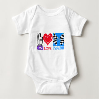 PEACE LOVE RACE T-SHIRT