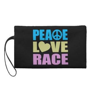 Peace Love Race Wristlet