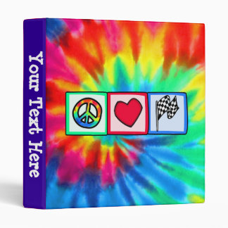 Peace, Love, Racing Binder