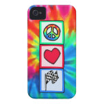 Peace, Love, Racing Case-Mate iPhone 4 Cases