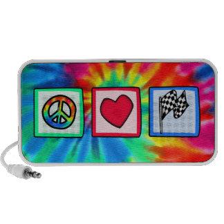 Peace, Love, Racing iPod Speakers