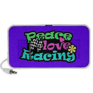 Peace, Love, Racing iPod Speaker
