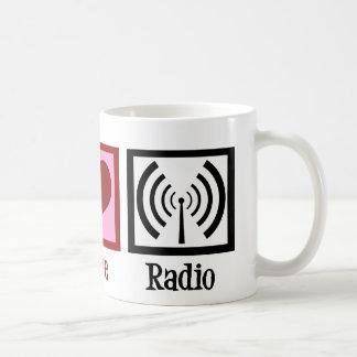 Peace Love Radio Classic White Coffee Mug