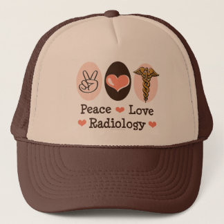Peace Love Radiology Hat