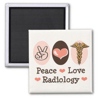 Peace Love Radiology Magnet