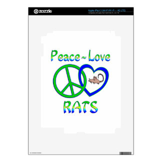 Peace Love Rats Decal For iPad 3