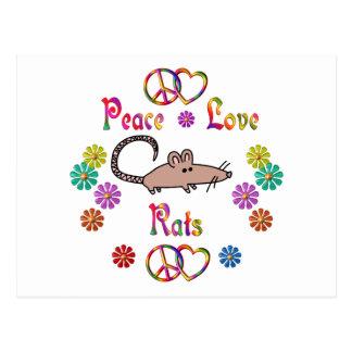 PEACE LOVE RATS POSTCARDS