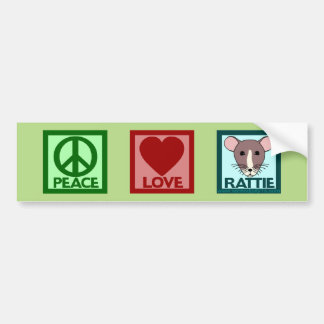 Peace Love Rattie Bumper Sticker