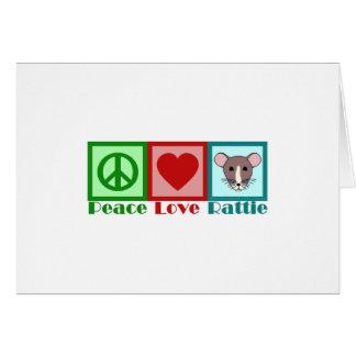 Peace Love Rattie Card