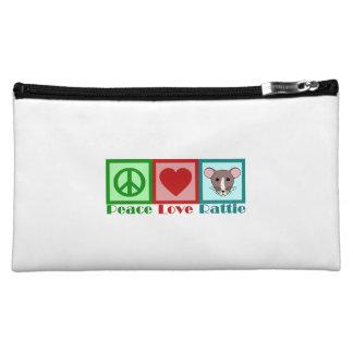 Peace Love Rattie Makeup Bag