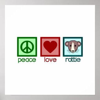 Peace Love Rattie Posters