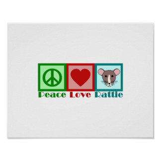 Peace Love Rattie Poster