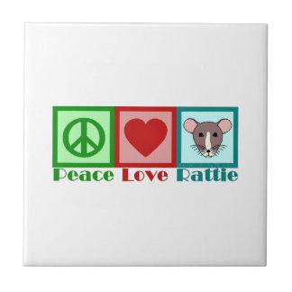 Peace Love Rattie Tile