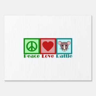 Peace Love Rattie Yard Sign