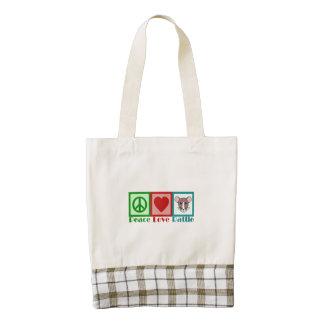 Peace Love Rattie Zazzle HEART Tote Bag