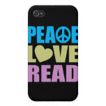 Peace Love Read Covers For iPhone 4