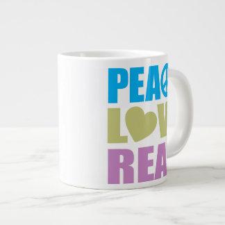 Peace Love Read Giant Coffee Mug