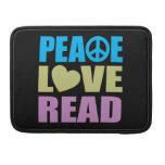 Peace Love Read MacBook Pro Sleeves