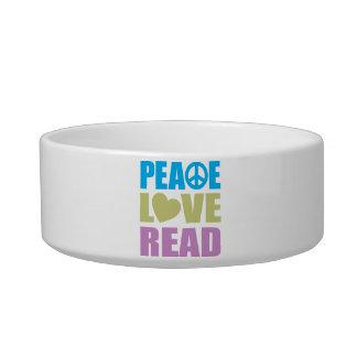 Peace Love Read Pet Food Bowl