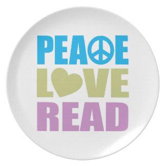 Peace Love Read Plate