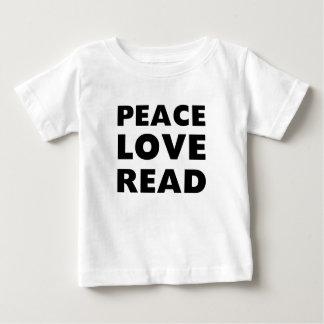 Peace Love Read T Shirt