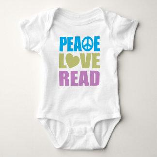 Peace Love Read T-shirt