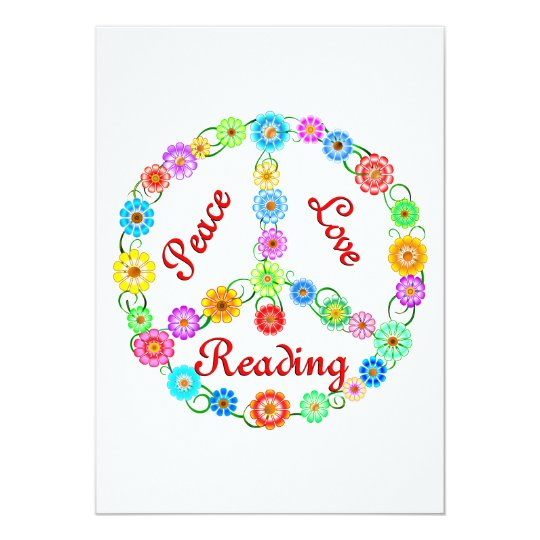 Peace Love Reading Card
