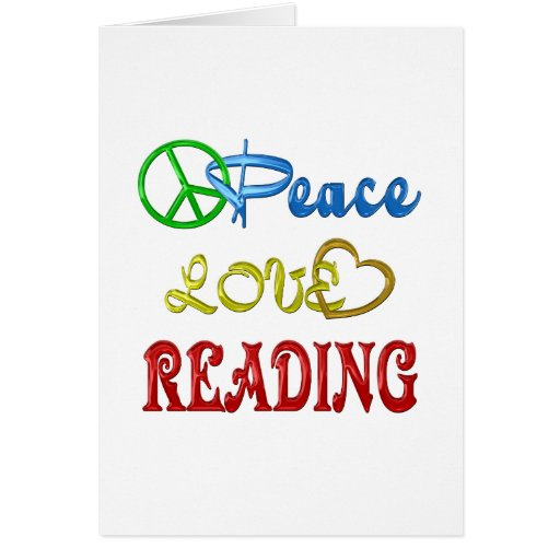 PEACE LOVE READING CARDS