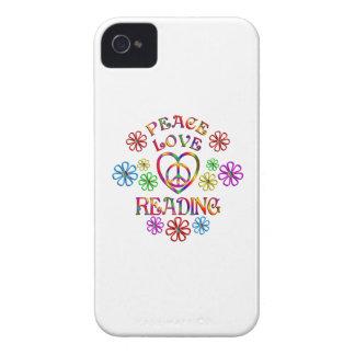 Peace Love Reading Case-Mate iPhone 4 Case